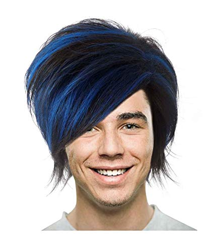 Halloween Party Online Mutants Nightcrawler Costume Wig, Blue