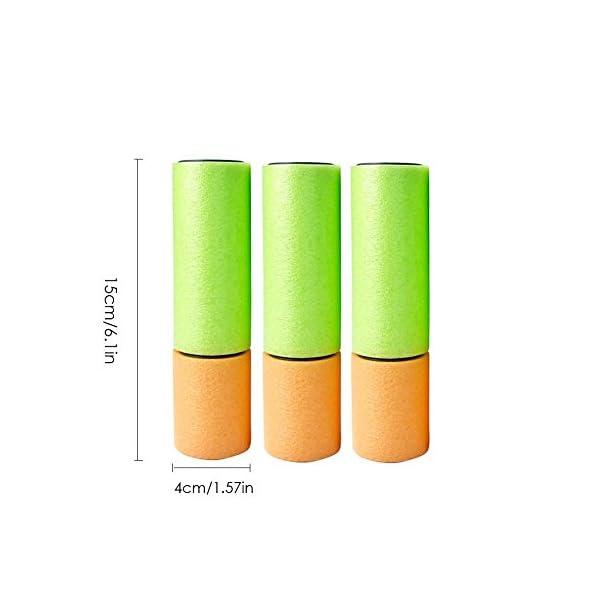 Pistole giocattolo, Pistole ad acqua tascabile in schiuma super soaker (confezione da 6) Giocattoli per bambini Piscina… 1 spesavip