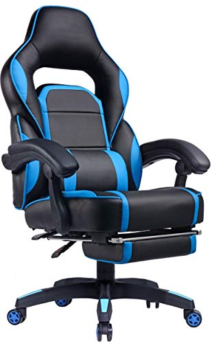 Gtplayer Gaming Chair With Footrest Big Amp Tall Racing