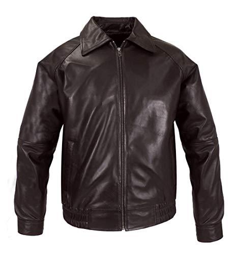 Véritable Calypso Skin Cuir Vêtements Pour Marron Veste En Hommes Feather dw8IFqAw