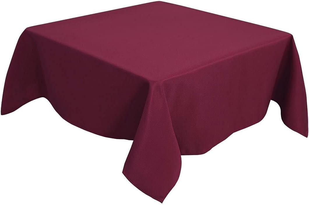 "Restaurant Quality Huge Burgundy Jacquard Brocade Tablecloth 130/"" round"