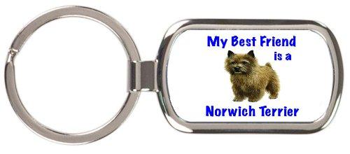 Norwich Terrier Keychain - My Best Friend is Norwich Terrier Rectangular Keychain