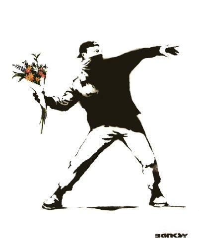 Poster Print Banksy Graffiti Molotov Flowers