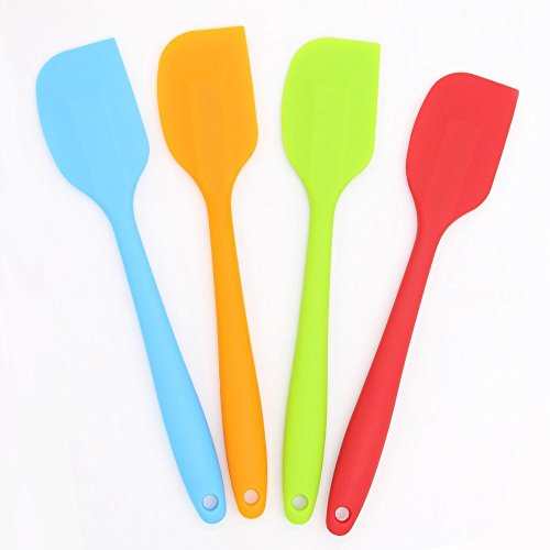 Silicone Heat Resistant Spatulas Non stick Stainless