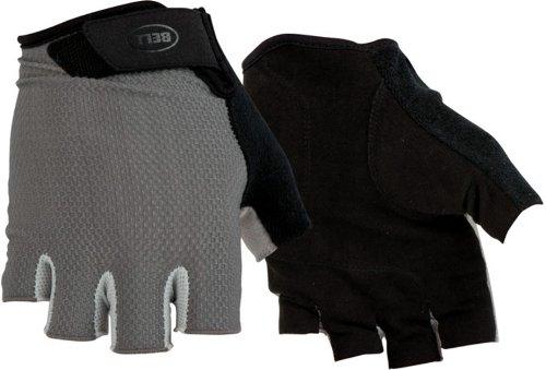 Bell Breeze 300 1/2 Finger Biking Gloves, Black/Gray, Small/Medium