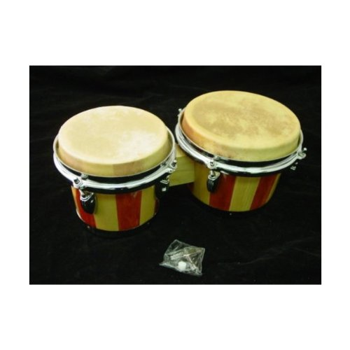 NEW LIGHT NATURAL WOOD - 02 - BONGO DRUM SET Conga ROCK EDMBG