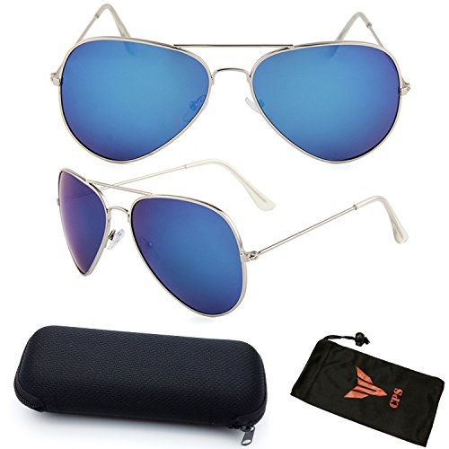 Aviator Sports Outdoor Driving Sunglasses Eyeglasses With Max Protection + Hard Case Storage