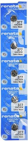 Renata 377 SR626SW SR626 AG4 LR626 Silver Oxide Mercury Free Electronic Batteries x 5 (Renata Battery 377 Watch)