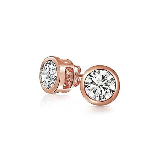 tud earrings Rose Gold Plated 6mm ()