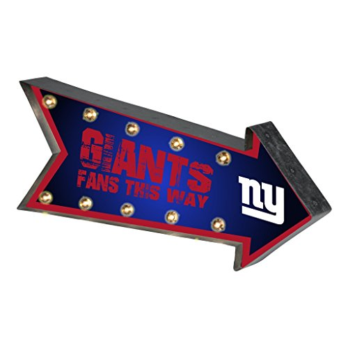 Forever Collectibles New York Giants NFL Team Logo Light Up Marquee Wall Sign