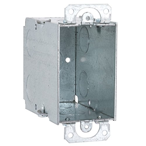 Hubbell-Raco 590 Switch Box with Plaster Ears, 3-1/2