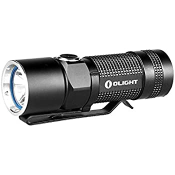 Olight S10R Baton Rechargeable Variable Output Side Switch LED Flashlight, Black