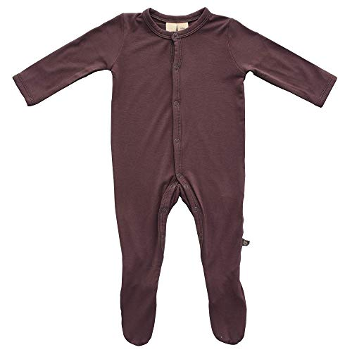 Cocoa Colours - Kyte BABY Footies - Baby Footed Pajamas Made of Soft Organic Bamboo Rayon Material - 0-24 Months - Solid Colors (6-12 Months, Cocoa)