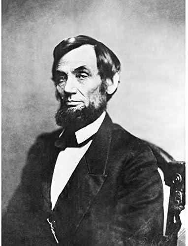 ポスター ブレイディ1861肖像画リンカーン写真 A3サイズ [インテリア 壁紙用] 絵画 アート 壁紙ポスター