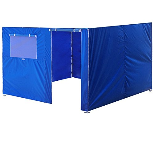 Eurmax Full Zippered Walls for 10 x 10 Easy Pop Up Canopy Tent,Enclosure Sidewall Kit with Roller Up Mesh Window and Door,4 Walls ONLY,Royal Blue