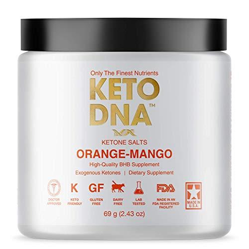Keto DNA Orange Mango Exogenous Ketone Supplement   5 Serving BHB Salts for Ketosis   Beta Hydroxybutyrate Ketones Powder   Perfect to Burn Fat and Increase Energy & Focus   69g - Small