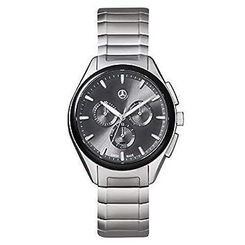 Mercedes Benz Original Hombre Reloj de Pulsera Acero Inox. Business  Cronógrafo Plata Negro  Amazon.es  Coche y moto ab1549dd2508