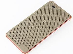 new arrival 1b484 9c27e HTC Desire 10 Pro Flip Cover, Gozmos High Quality Dot View Gold Flip ...