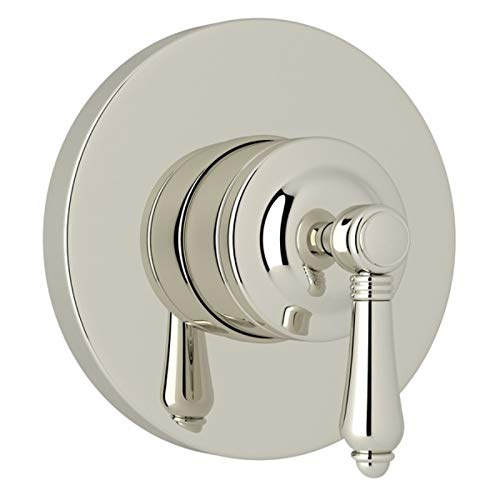 Rohl A2700NLMPNTO Kit Trim Package for Country Bath Four Port Three Direction Diverter Trim Only New Style with Metal Lever and Sleeve, Polished Nickel Country Bath Four Port