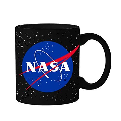 Silver Buffalo NAS31234 NASA Logo with Stars Ceramic Mug, 20-Ounce, ()