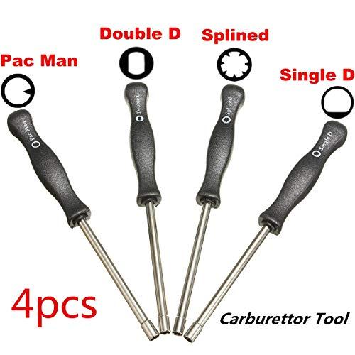 Carvicto - 4pcs Carburetor Adjusting Tool Trimmer Lawnmowers Screwdriver  Kit for Zama Walbro