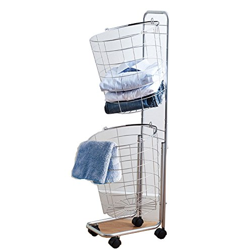 Livens, Moving 2 top Laundry cart, Storage, Organizer, Laundry Basket, 14'' by Livens