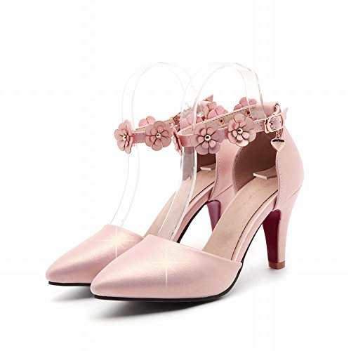 Mee Shoes Damen süß Ankle strap Schnalle high heels Pumps Pink