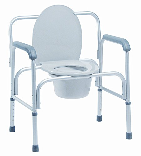 - MediChoice Commode, Heavy-Duty, Snap-On Seat, Adjustable, Aluminum Frame, 18' to 23', 2867COMM7002 (Each of 1)