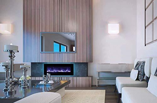 Cheap Amantii Wall Mount/Flush Mount Series Electric Fireplace (WM-FM-48-5823-BG) 58-Inch Black Friday & Cyber Monday 2019