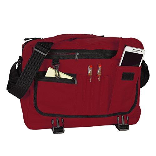 Tasche, Rucksack, Schultertasche in dunkelrot - mit Goodman Design Logo - für Sport, Schule und Freizeit!