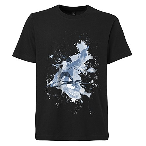 Tennis_V schwarzes modernes Herren T-Shirt mit stylischen Aufdruck