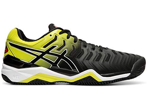 ASICS Men's Gel-Resolution 7 Clay Court Tennis Shoes, 10M, Black/Sour Yuzu