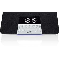 iLive ICB352B Bluetooth Alarm Clock Radio with Dual Alarms - Black