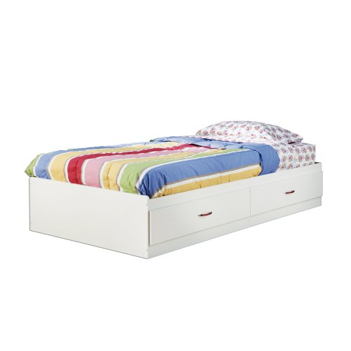 South Shore Logik Mates Bed with 2 Drawers, Twin 39-inch, (Bed Captain Storage)