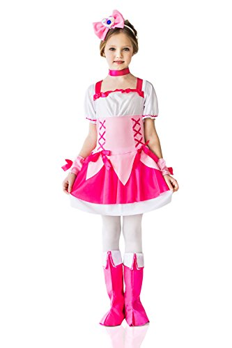 [Kids Girls Pink Princess Halloween Costume Queen of Roses Dress Up & Role Play (3-6 years, fuchsia, pink,] (Halloween Costumes Ideas For Girls Age 12)