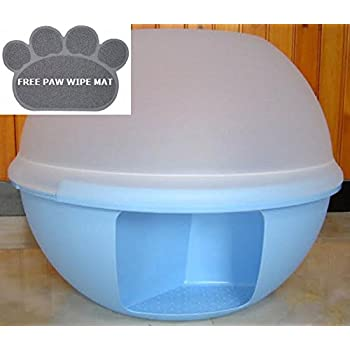 luxury round enclosed cat litter box extra. Black Bedroom Furniture Sets. Home Design Ideas
