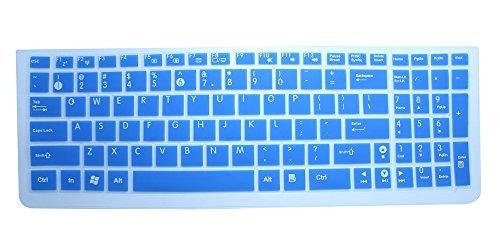 BingoBuy Clear Silicone Keyboard Protector Skin Cover for ASUS A53E D550MA F552LDV F751LDV G550JK G53SW G53JW G53SX GL551JM GL551JK GL771JM G73JW G73JH G73SW K73E K53SV K550CA K553MA N56VZ N56VM N550JA N550JV N550JK N750JV Q501LA Q502LA Q551LN S56CA S500CA