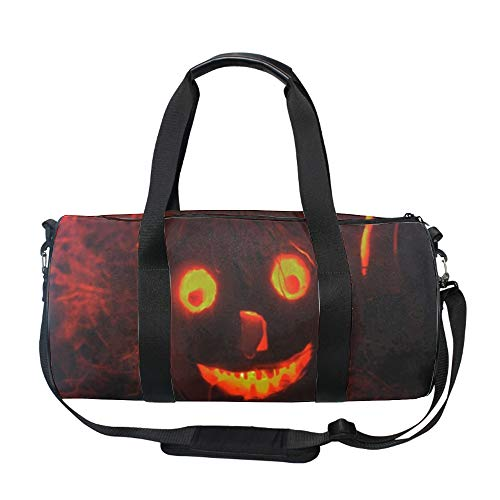 History Halloween Large Travel Durm Bag with Pockets for Women and Men - Foldable Duffel Bags for Luggage