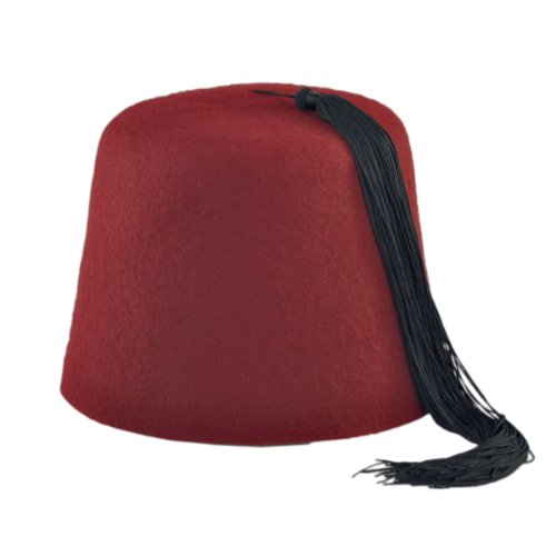 15824849c Maroon Fez with Black Tassel - Import It All