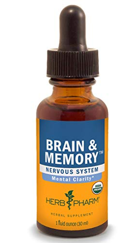 Herb Pharm Brain and Memory Liquid Herbal Formula with Ginkgo for Memory and Concentration- 1 Ounce