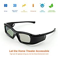 AEHR 3D Active Shutter Glasses 144Hz Rechargeable Infrared for r all 3D DLP-Link Ready Projector