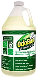 OdoBan 911062-G Concentrate All Purpose Cleaner and Disinfectant Odor Eliminator, Eucalyptus Scent, 128 oz. (Pack of 4)