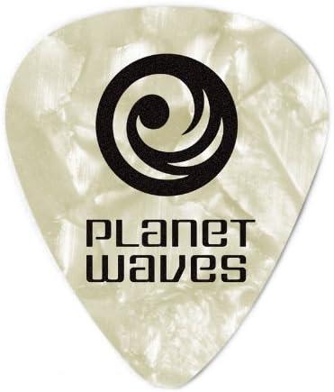 SET DI 5 PLETTRI D/'ADDARIO DURI PLANET WAVES IN CELLULOIDE BIANCO PERLA 0,1MM