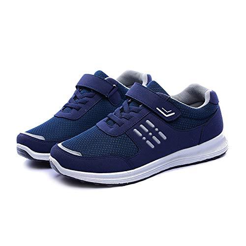mâle Fond À De Chaussures Sport Mou Et Bozevon Bleu Confortables Chaudes Marche ZqPw8B