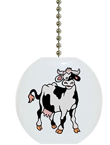 Carolina Hardware and Decor 1721F Cow Farm Animal Ceramic Fan Pull