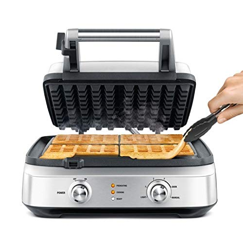Breville the Smart Waffle 4-Slice No Mess Electric Waffle Maker w/Browning Control - BWM604BSSUSC by Breville (Image #2)