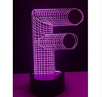 Luz de la noche de la novedad 3D Lámpara Alfabeto Letra F Mesa de ...