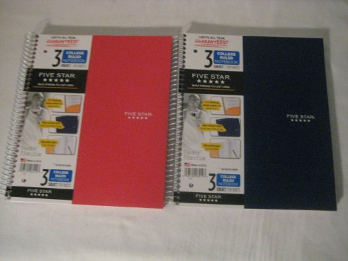 043100061120 - MEA06112 Trend Notebooks, Perforated, 5-Subject, 200/Sht, Assorted Colors carousel main 0