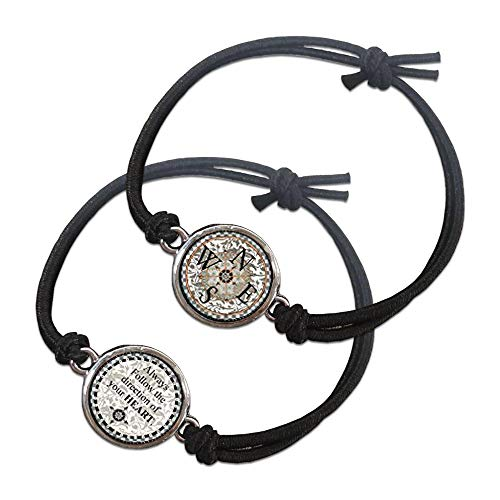 (Spirit Lala Reversible Compass Always Follow The Direction of Your Heart Bracelet with Gift Box)