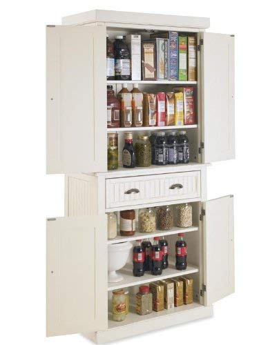 home, kitchen, furniture, kitchen, dining room furniture,  pantries 8 on sale Nantucket White Pantry by Home Styles in USA